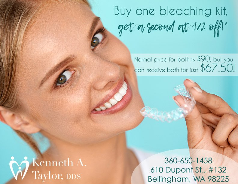 Special offer graphic, two bleaching kits for $67.50